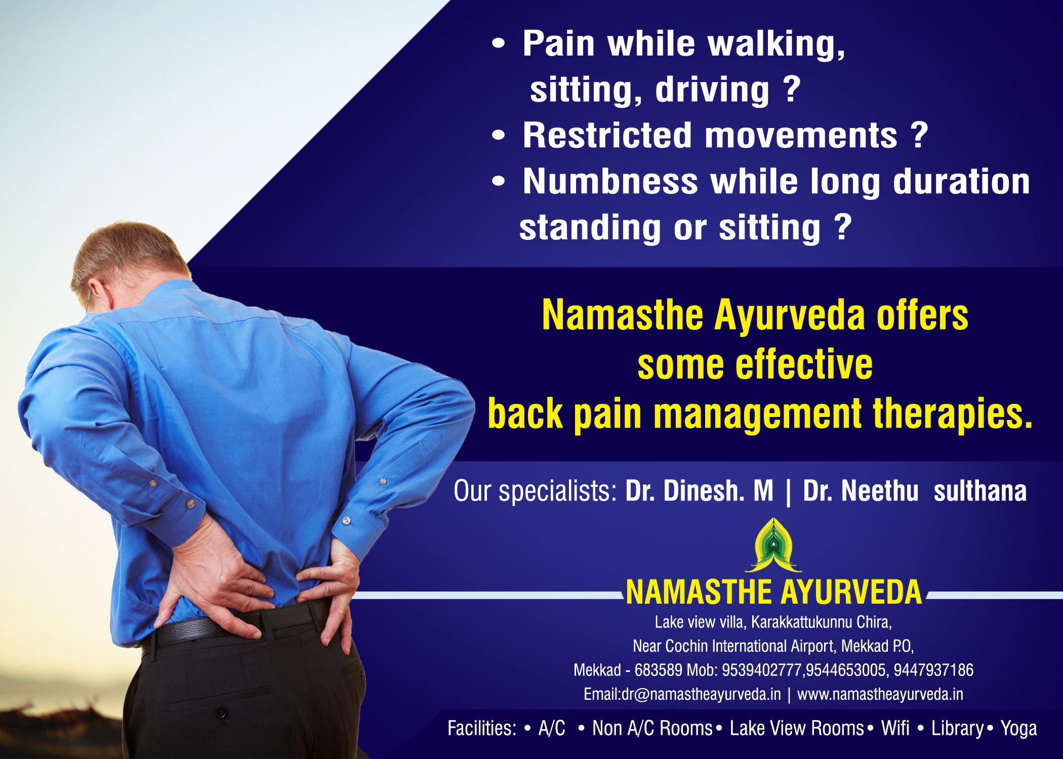 Namasthe Back pain treatment